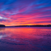 sunrise over the Richibucto river