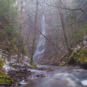 tallest tributary falls on Thomas Dickson Brook