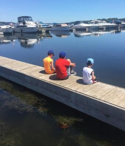 The ( 3 ) brothers are chatting by the lake while dad is fishing nearby 🌞🌞 Scarborough, ON