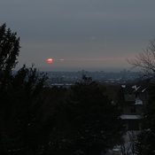 Red sun in the morning