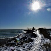 Winter Begins at Bond Head Waterfront Lake Ontario