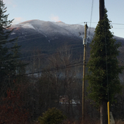 Snow on Balfour mountain today.