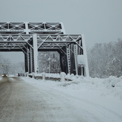 mckellar bridge clothed in snow
