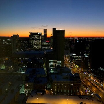Skyview Sunset November2019 Winnipeg Downtown
