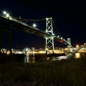 Macdonald Bridge at night