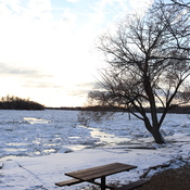 Picnic Season is Gone - Red River Ice Jam