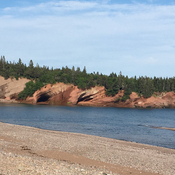 Sea caves at St. Martins, NB