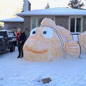 Nemo Snow Sculpture