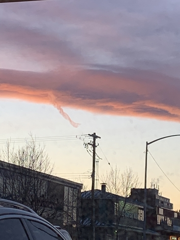 Funnel cloud in Calgary sunset? Calgary, Alberta, CA