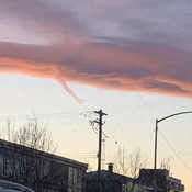 Funnel cloud in Calgary sunset?