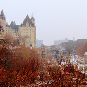 Beautiful view of the Chateau Laurier and the locks