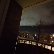Weird looking sky at night over Drummondville, Quebec