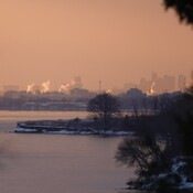 Looking West from Bonny Brae Point @ Pickering Nuclear Plant & Toronto Skyline