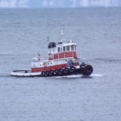tug coming into port