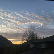 Fallstreak hole over Agassiz