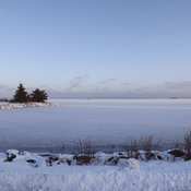 open lake/frozen bay