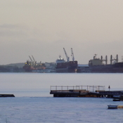 3 ships in port at KEEFER
