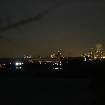 Night shots from Bonny Brae Point of Toronto Skyline & Pickering / Scarborough