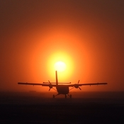 Sunrise with a Twin Otter
