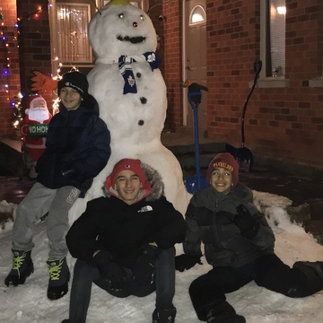 Snowman Spotted in Maple, Vaughan