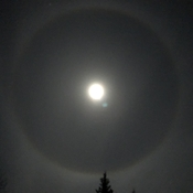 Moon with halo
