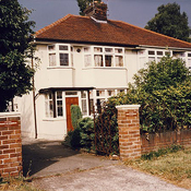 John Lennons childhood home ~ Photo scan
