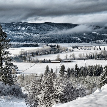 Shuswap River Valley in Enderby, B.C.