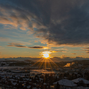 Sunset in Cochrane Yesterday
