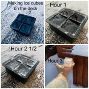 Making ice cube on the Deck