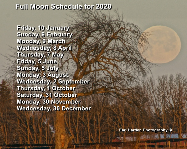 Full Moon Schedule 2020 Port Dover, ON