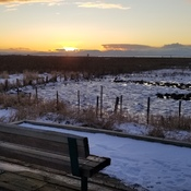 come and sit awhile and watch a winter sunset