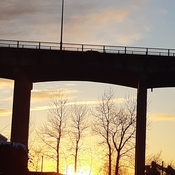 Sunset Over Oak Bridge, Vancouver
