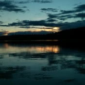 Evening on a Cariboo lake