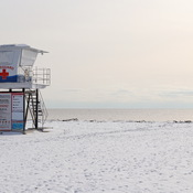 Lifeguard Tower on Main Beach, Port Stanley