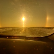 sun dogs threw sunglasses