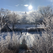 Beautiful Regina - Wascana Creek Hockey game