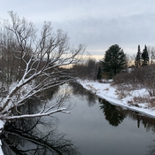 Yamaska river on Bromont