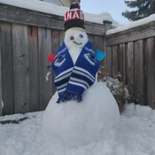 our 1st snowman in Vancouver
