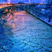 Frozen Don river