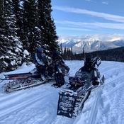 Snowmobiling in McBride BC
