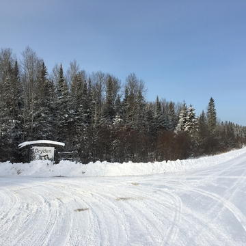 Dryden Ski Hill entrance