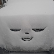 Snow happy car!