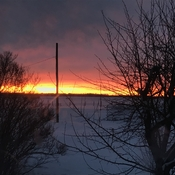 Moving on from the frigid deep freeze with a stunning sunrise.