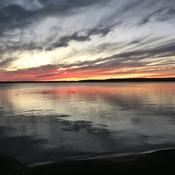 Balsam Lake sunset