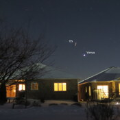 The ISS sweeps up past the planet Venus!