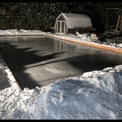 Someone has been busy building a backyard skating rink Oro Medonte