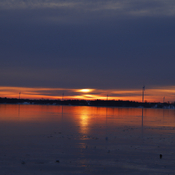 Sunrise over Amherst Island