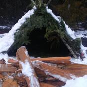 bushcraft A frame..... nice and cozy