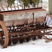 Antique Massey Harris Seed Drill