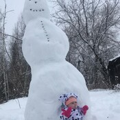 First Snow Man